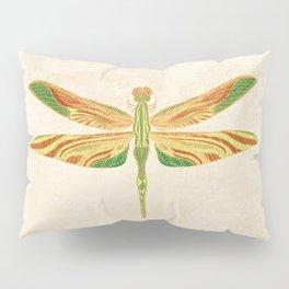 Antique Art Nouveau Dragonfly Pillow Sham