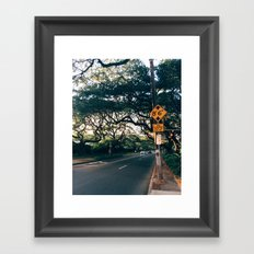Honolulu Road Framed Art Print