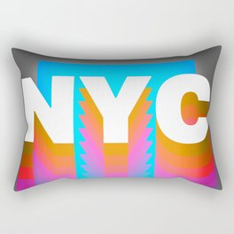NYC colorful print design Rectangular Pillow