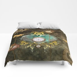 Steampunk, noble design Comforters