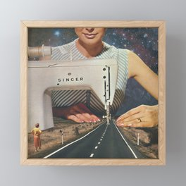 This is how a road gets made Framed Mini Art Print
