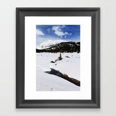 Winter Stream Framed Art Print