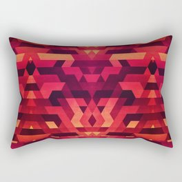 Abstract red geometric triangle texture pattern design (Digital Futrure - Hipster / Fashion) Rectangular Pillow