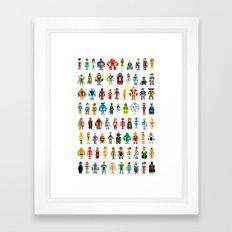 Pixel Heroes Framed Art Print