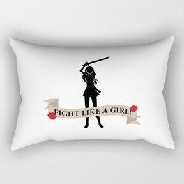 Fight Like A Girl! Rectangular Pillow