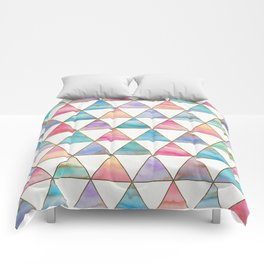 Marble Triangles Pattern Comforters