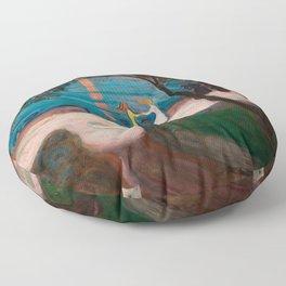 Dance on the Shore, Edvard Munch Floor Pillow
