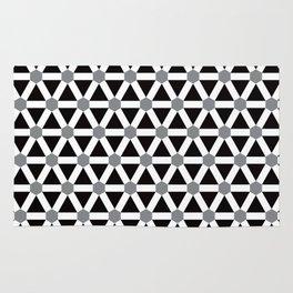 Geometric Pattern #176 (gray) Rug
