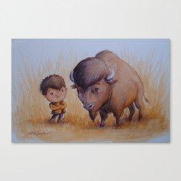 """Bold Buffalo Brothers"" Canvas Print"