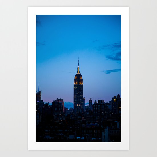 Empire State Building at Sunset Art Print