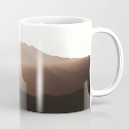 Morning haze in the mountains. Forest. Beautiful landscape. Summer Coffee Mug