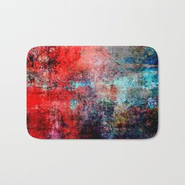 Modern  Red Abstract Design Badematte