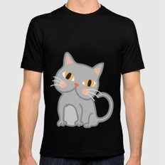 Cat Black Mens Fitted Tee MEDIUM