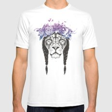 King of lions X-LARGE White Mens Fitted Tee