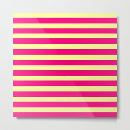 marinière mariniere pink and yellow Metal Print