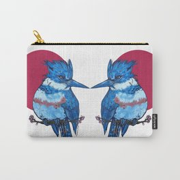 L'il Lard Butts Rising Sun Belted Kingfisher Carry-All Pouch