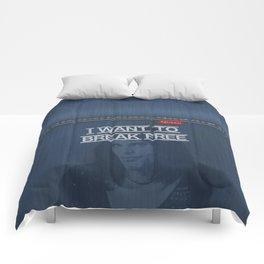 I Want To Break Free - Mercury on Blue Jeans Comforters