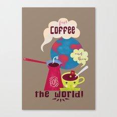 First Coffee Canvas Print