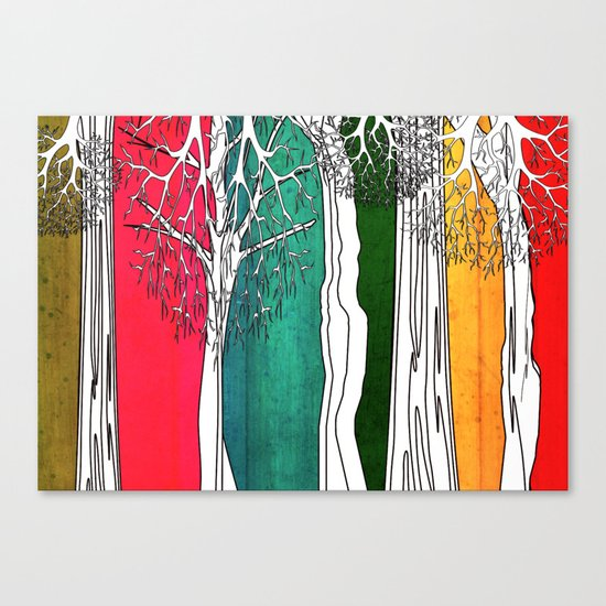 Color Forest Canvas Print