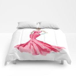 Sabrina / Hepburn Fuschia Pink Red | Fashion Gown Dress Comforters