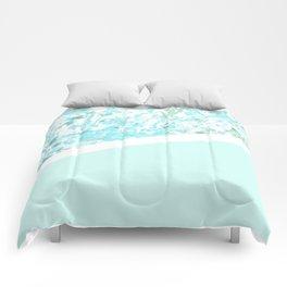 Aqua Splatter - Diagonal Comforters