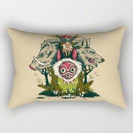 The Wolf Princess Rectangular Pillow