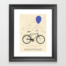 Anatomy Of A Bicycle Framed Art Print