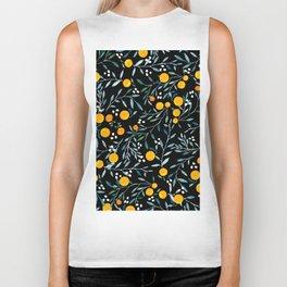 Oranges Black Biker Tank