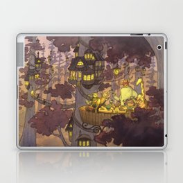 Treehouse Dinner With Animal Friends Laptop & iPad Skin