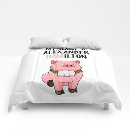 Alexander Hamilton Pig Piggy Ham BBQ Musical Comforters