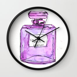 perfume purple Wall Clock
