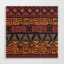 Tribal ethnic geometric pattern 021 Wood Wall Art