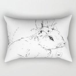 Little snowshoe hare Rectangular Pillow