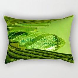 the Gherkin In Green Rectangular Pillow