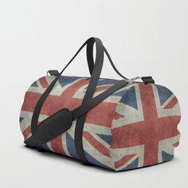 UK Flag, Dark grunge 3:5 scale Duffle Bag