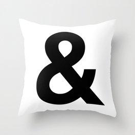 Ampersand Black and White Helvetica Typography Design Poster Home Decor Wall Art Scandinavian Decor Throw Pillow