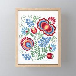 Moravian Folk Design Red Framed Mini Art Print
