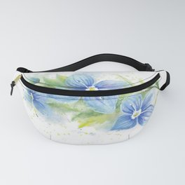 Veronica, Floral Watercolor Fanny Pack