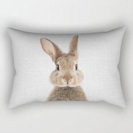 Rabbit - Colorful Rectangular Pillow