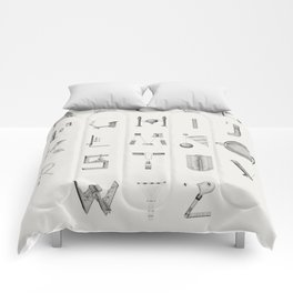 The Beauty of Scientific Diagrams Comforters