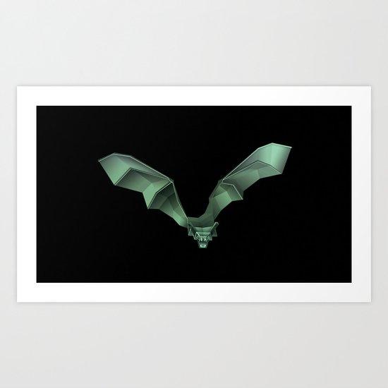 Chiroptera 02, bat, murciélago 02 Art Print