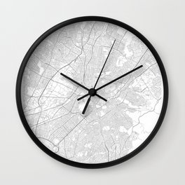Athens, Greece Minimalist Map Wall Clock