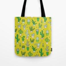 Botanical dessert cactus pattern Tote Bag