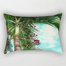 Manila Palm Tree - Hawaii Rectangular Pillow