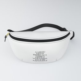 A mind needs Fanny Pack
