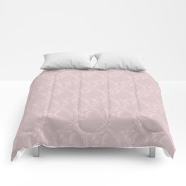 Modern mauve pink girly geometrical floral Comforters