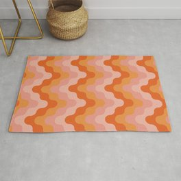 Colored zigzags (pink and orange)  Rug
