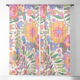 Just Flowers Lite Sheer Curtain