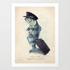 The Pilot Art Print