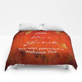 Guest Room WIFI Password Comforters